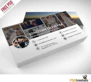 Professional Photographer Business Card Psd Template Freebie regarding Free Business Card Templates For Photographers