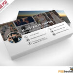 Professional Photographer Business Card Psd Template Freebie Within Photography Business Card Templates Free Download