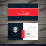 Professional Red Business Card Template with regard to Professional Name Card Template