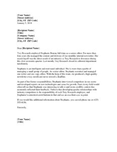 Professional Reference Letter Template Word – Business Form with regard to Business Reference Template Word