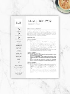 Professional Resume Template, Free Resume Template, Resume Template Instant  Download, Resumes, Cover Letter + References Included, Mac + Pc throughout Free Resume Template Microsoft Word