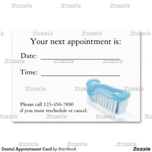 Profile Card | Dental | Dental, Dental Technician, Custom for Dentist Appointment Card Template