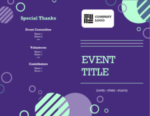 Programs – Office within Free Event Program Templates Word