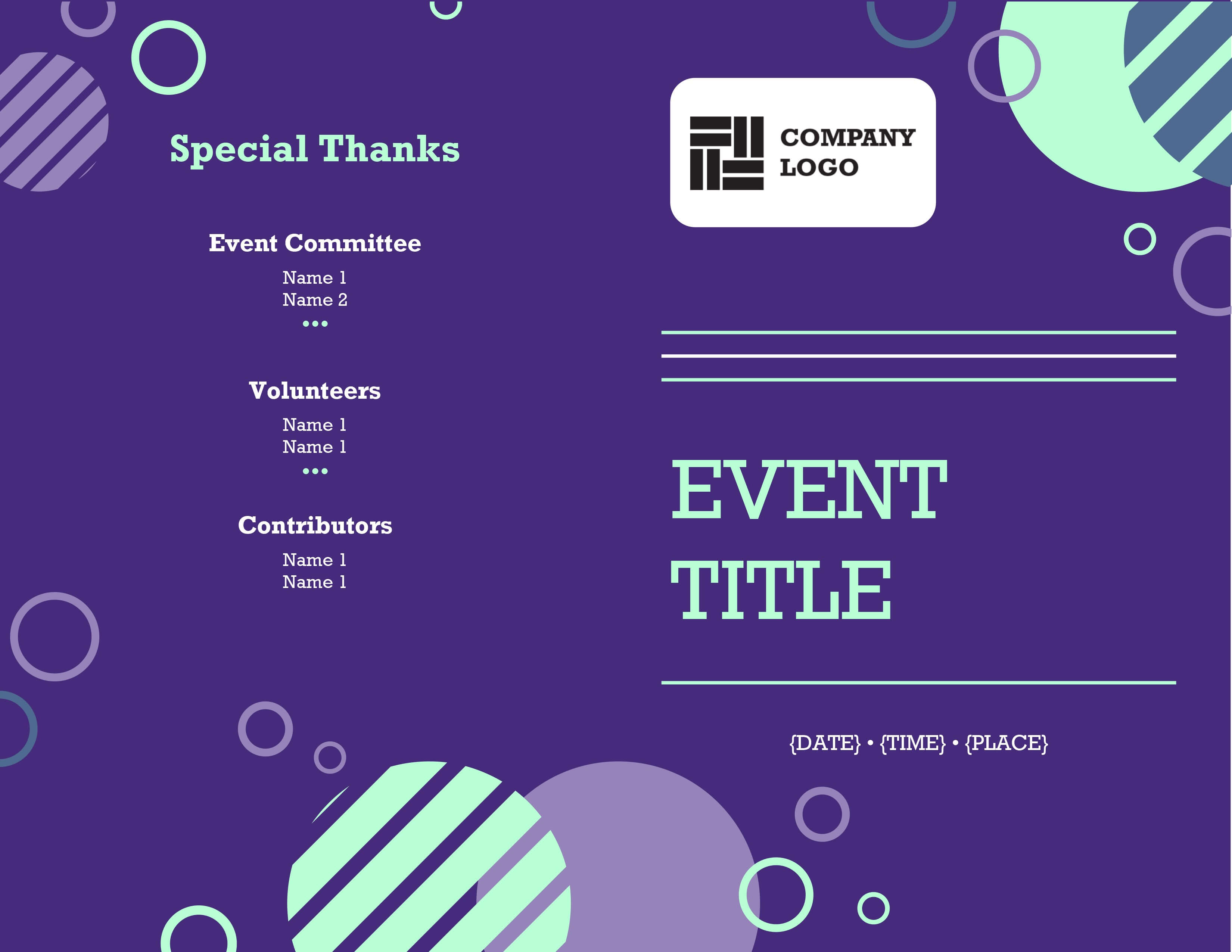 Programs - Office Within Free Event Program Templates Word