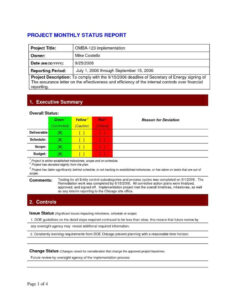 Project Daily Status Report Template Excel And Create Weekly in Implementation Report Template