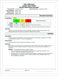 Project Management. Project Management Report Template intended for Simple Project Report Template