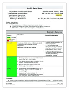 Project Report Template Engineering Word Excel Performance with Engineering Progress Report Template