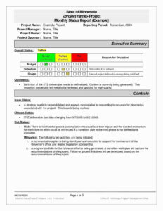Project Status Executive Summary Template Beautiful Report intended for Executive Summary Project Status Report Template