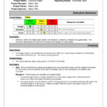 Project Status Report Sample | Pmp | Project Status Report With Incident Summary Report Template