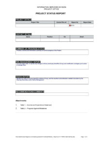 Project Status Report Template Example – Wovensheet.co with regard to Project Status Report Template Word 2010