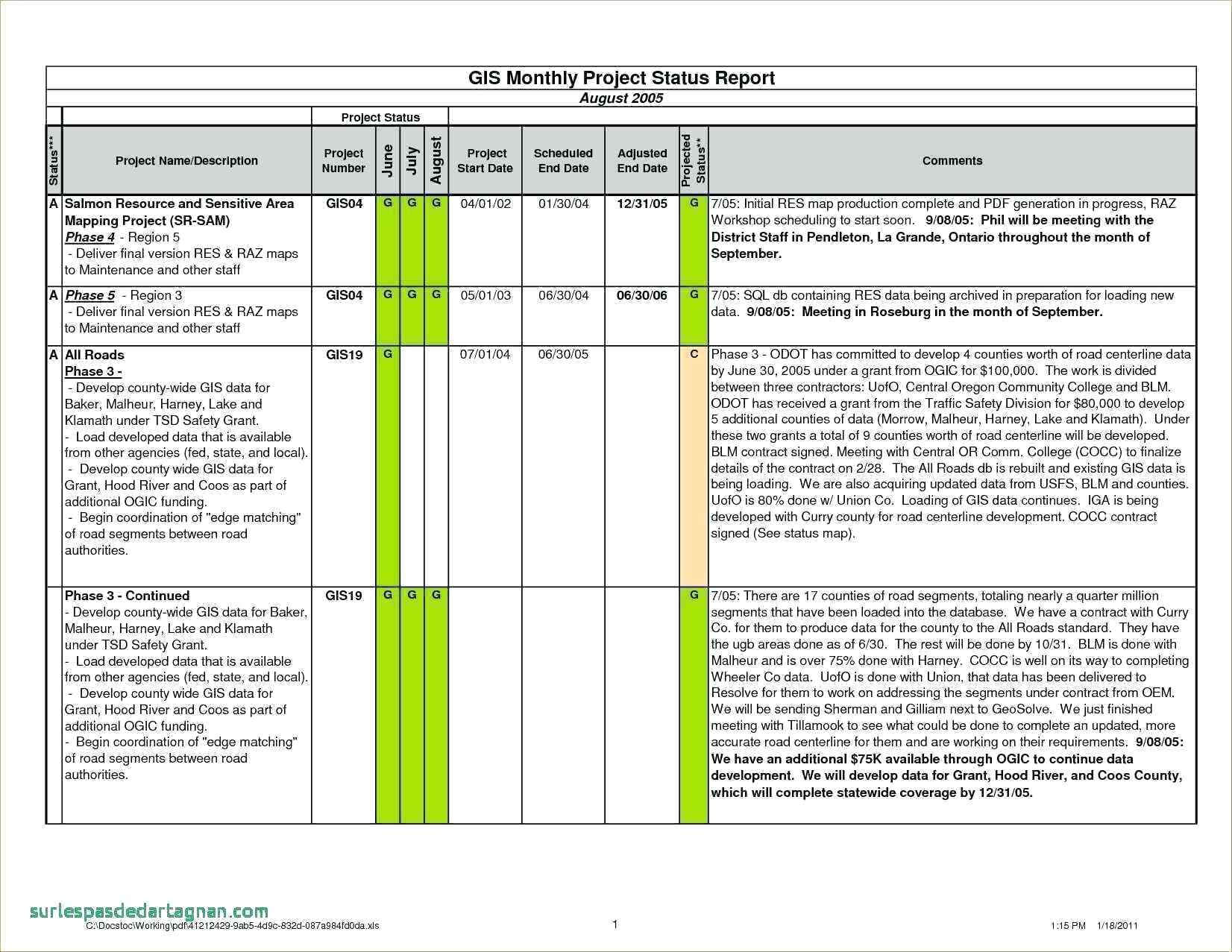 Project Status Report Template Excel Monthly Agile Format For Project Status Report Template In Excel