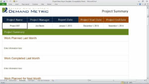 Project Status Report Template inside Project Status Report Template In Excel