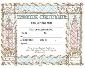 Promotion Certificate – Certificate – Promotion – Christian in Promotion Certificate Template