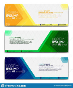 Promotional Banner Design Template 2019 Stock Vector inside Website Banner Design Templates