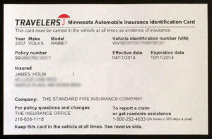 Proof Of Auto Insurance Template Free | Template Business within Proof Of Insurance Card Template