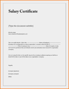 Proof Of Employment And Salary Letter Template Examples with regard to Certificate Of Employment Template