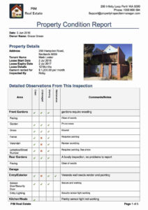 Property Inspection Manager for Commercial Property Inspection Report Template