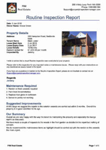 Property Inspection Manager within Property Condition Assessment Report Template