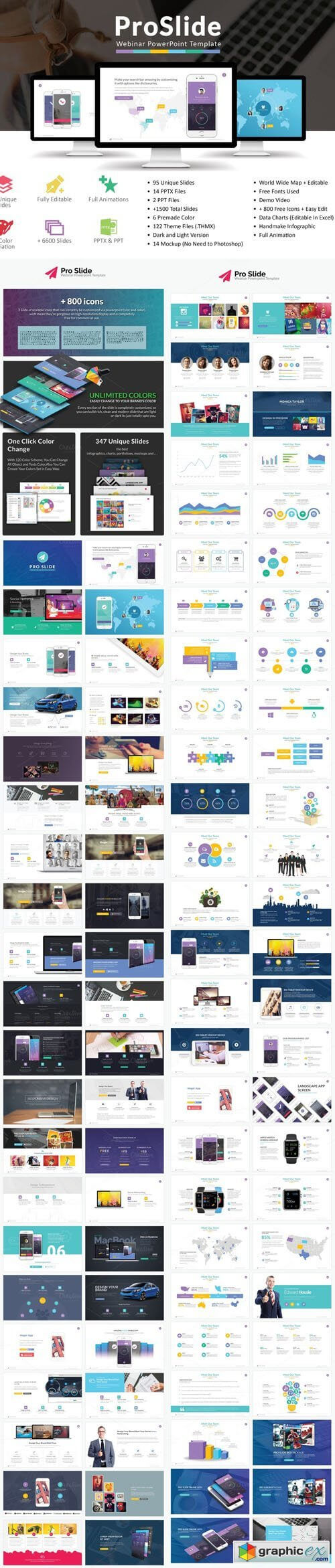Proslide Webinar Powerpoint Template » Free Download Vector Inside Webinar Powerpoint Templates