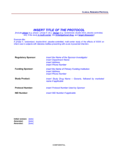 Protocol Template with Dsmb Report Template