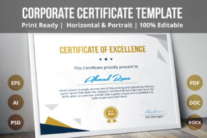 Psd Certificate Template On Behance regarding Landscape Certificate Templates