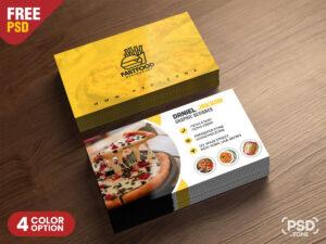 Psd Fast Food Restaurant Business Card Design | Freebie within Restaurant Business Cards Templates Free
