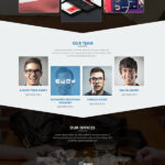 Psd Templates: 20 One Page Free Web Templates   Freebies With Single Page Brochure Templates Psd