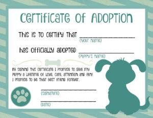 Puppy Adoption Certificate | Dog Birthday In 2019 | Adoption intended for Toy Adoption Certificate Template