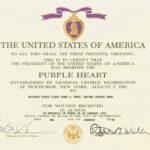 Purple Heart   Military Wiki   Fandom Poweredwikia In Army Good Conduct Medal Certificate Template