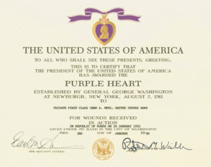 Purple Heart | Military Wiki | Fandom Poweredwikia in Army Good Conduct Medal Certificate Template