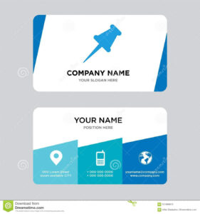 Push Pin Business Card Design Template, Visiting For Your regarding Push Card Template