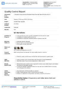 Qa Qc Report Template And Sample With Customisable Format inside Software Quality Assurance Report Template