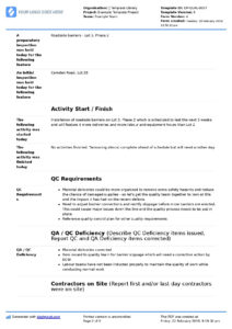 Qa Qc Report Template And Sample With Customisable Format regarding Software Quality Assurance Report Template