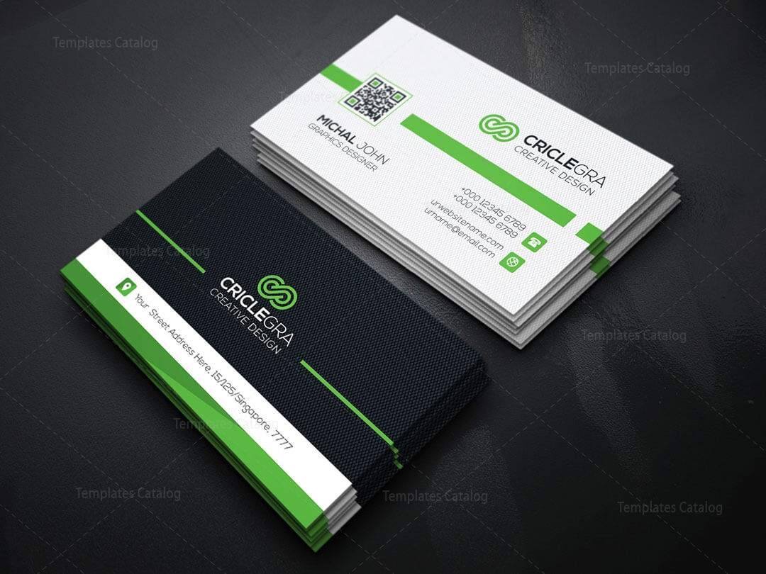 Qr Code Business Card Template 5 - Template Catalog In Qr Code Business Card Template