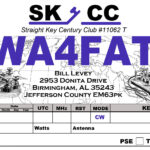 Qsl Cards | Wa4Fat For Qsl Card Template