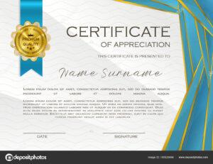Qualification Certificate Appreciation Design Elegant Luxury for Qualification Certificate Template