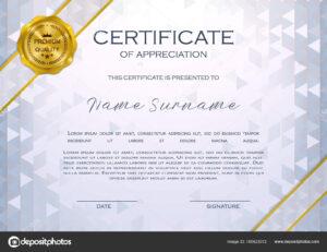 Qualification Certificate Appreciation Design Elegant Luxury within Qualification Certificate Template