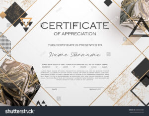 Qualification Certificate Of Appreciation Design. Elegant with Qualification Certificate Template