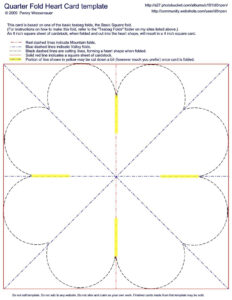 Quarter-Fold Heart Card Template | Fancy Folds | Heart Cards with regard to Quarter Fold Birthday Card Template