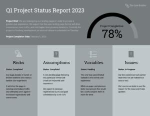 Quarterly Project Status Progress Report Template Template throughout Quarterly Status Report Template