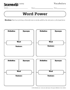 Quick And Easy Vocabulary Activity – Use It With Any Text with Vocabulary Words Worksheet Template