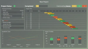 Rag Project Status Dashboard For Powerpoint | Dashboards with regard to Project Dashboard Template Powerpoint Free