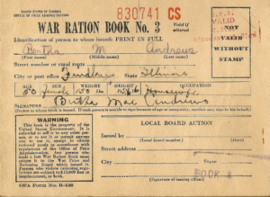 Ration Books | The National Wwii Museum | New Orleans with World War 2 Identity Card Template