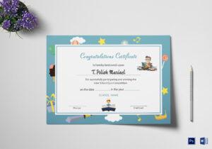 Reading Award Congratulations Certificate Template with Congratulations Certificate Word Template