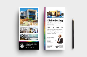 Real Estate Agency Dl Rack Card Template In Psd, Ai & Vector pertaining to Dl Card Template