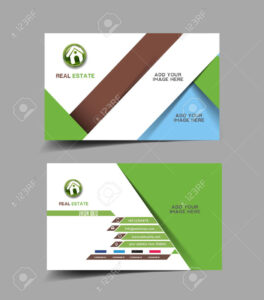 Real Estate Agent Business Card Set Template for Real Estate Agent Business Card Template