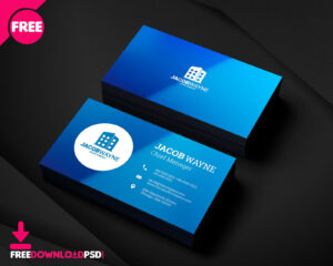 Real Estate Business Card Psd, Free Real Estate Business throughout Name Card Photoshop Template