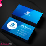 Real Estate Business Card Psd   Freedownloadpsd In Psd Visiting Card Templates