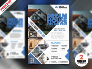 Real Estate Flyer Design Psd | Psdfreebies With Regard To Real Estate Brochure Templates Psd Free Download