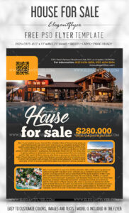 Real Estate Flyer Psd Template Download For Free – Designhooks With Real Estate Brochure Templates Psd Free Download